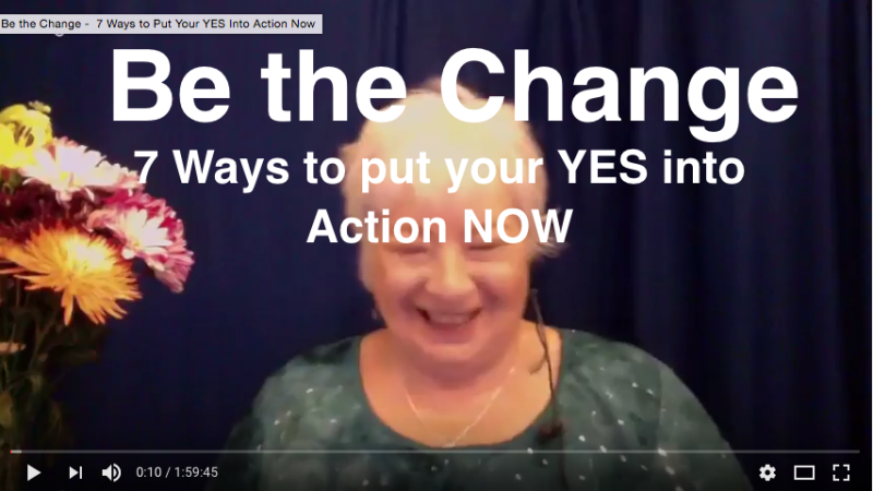 BE the CHANGE Webinar