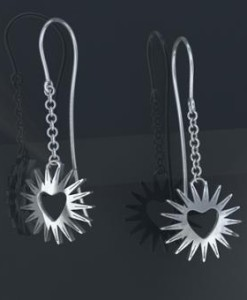 Radiant Heart Earrings