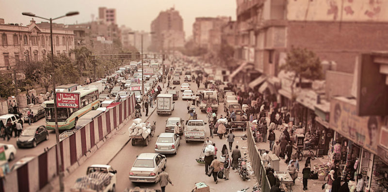 scary traffic in Cairo